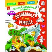 Coloreaza si completeaza imagini cu automobile si alte vehicule