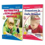 Comunicare in Limba Romana si Matematica si explorarea mediului. Set 2 carti, Clasa I, semestrul 1 - Alexandra Manea