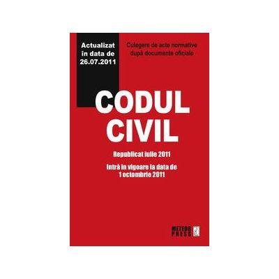 Codul civil - republicat iulie 2011