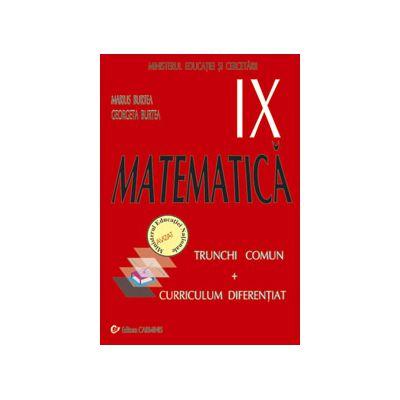 Matematica TC + CD - Manual pentru clasa a IX-a