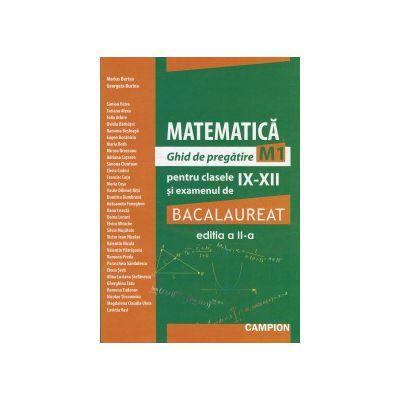 Matematica ghid de pregatire M1 pentru clasele IX-XII si examenul de bacalaureat