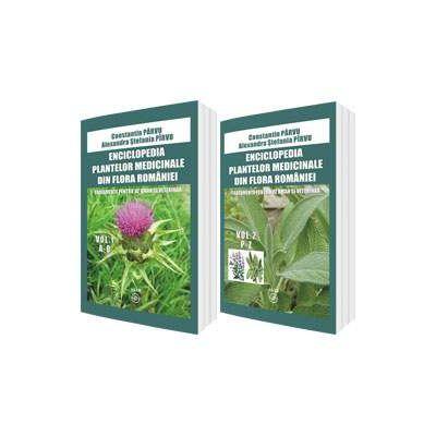 Enciclopedia plantelor medicinale din flora Romaniei. Tratamente pentru uz uman si veterinar (Set 2 volume, A-O si P-Z) - Constantin Parvu