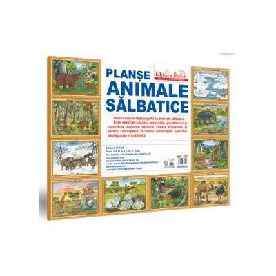 Animale salbatice - MAPA - setul contine 10 planse format A3