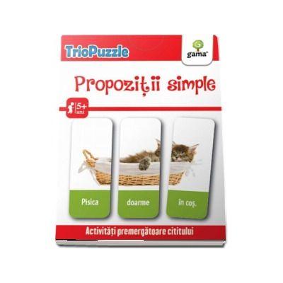 TrioPuzzle - Propozitii simple. Activitati premergatoare cititului si scrisului (Contine 60 de carduri)
