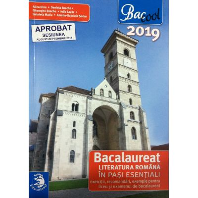 Literatura romana Bacalaureat 2019 in pasi esentiali - Exercitii, recomandari, exemple pentru liceu si examenul de bacalaureat - Alina Dinu